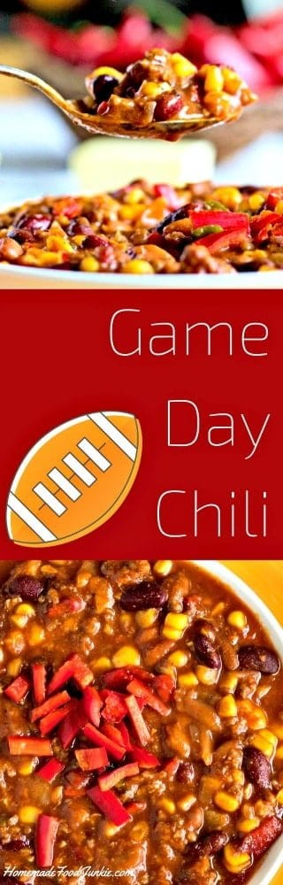 Game Day Chili Recipe is a high fiber, dairy free chili. Made easily ...